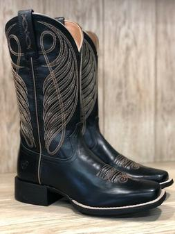 Ariat Women's Round Up Limousin Black Wide Square Toe Wester