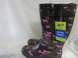 Western Chief Women's Tall Horses Rubber Rain Galoshes Muck