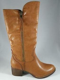 Women's RAMPAGE VIVVA Light Brown Zip Up Western Riding Knee