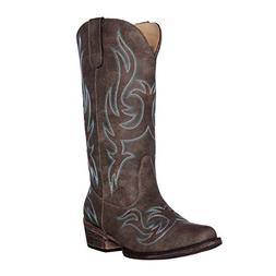 Women's Western Cowgirl Cowboy Boot | Brown Reno Snip Toe by