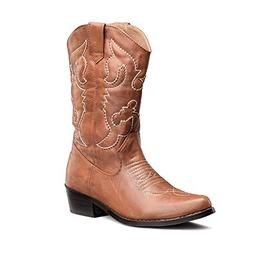 SheSole Women's Western Cowgirl Cowboy Boots Tan Size 9