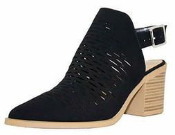 City Classified Women's Western Laser Cutout Caged Pointy To