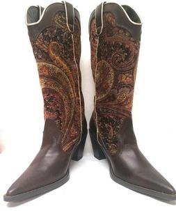 WOMEN'S WESTERN POINTY TOE RODEO COWGIRL COWBOY BOOTS, SODA
