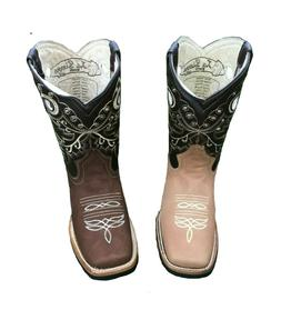 Women's Western Rodeo Square Toe Cowgirl Boots Honey 100% Le