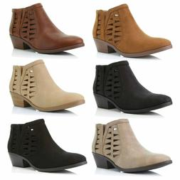 DailyShoes Women Western Cowboy Comfortable and Soft Perfora