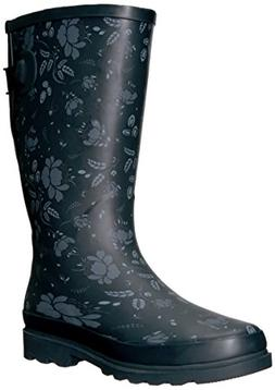 Western Chief Women Wide Calf Rain Boot,Feminine Floral, 9 W