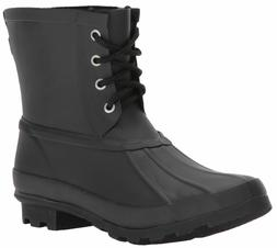 WESTERN CHIEF Womens Ankle Rain Boot, Rain Duck Boot Black,