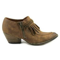 Very Volatile Womens Finlandia Pointed Toe Ankle Cowboy Boot