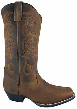 Smoky Mountain Boots Womens Lariat Brown Oil Leather Western