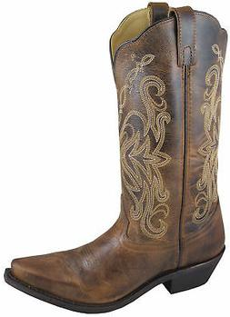 Smoky Mountain Boots Womens Madison Brown Distress Leather 1