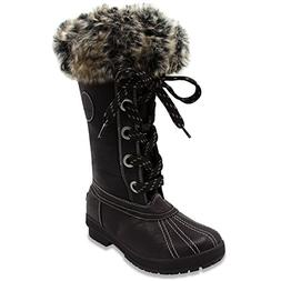 womens melton cold weather waterproof snow boot
