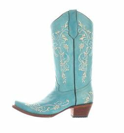 womens turquoise beige cowboy western boots size