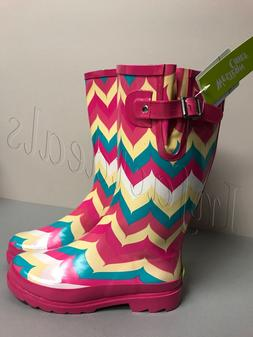 Womne's Rain Boots New Western chief Chevron multicolor teal