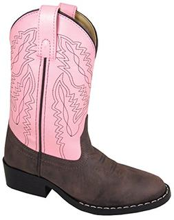Smoky Mountain Youth Girls Monterey Boots Brown/Pink, 4M